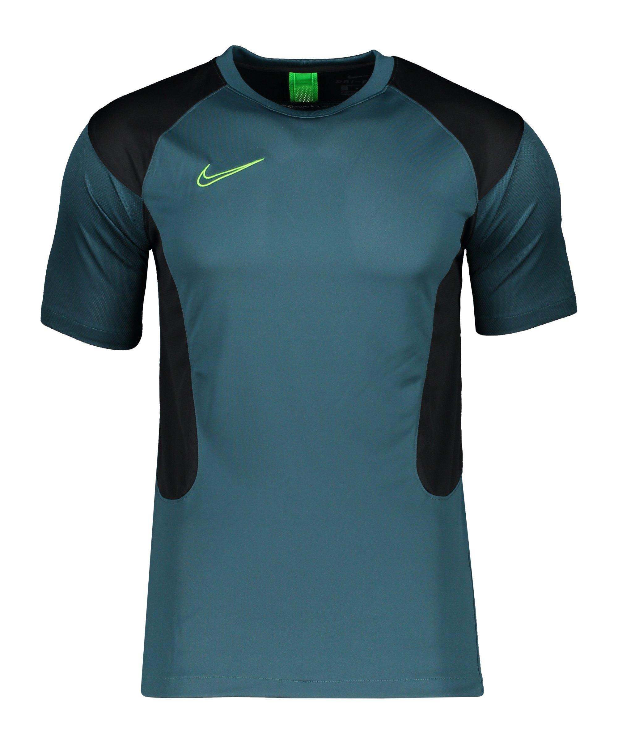 Nike Dry Academy T-Shirt Grün Schwarz F393 - gruen