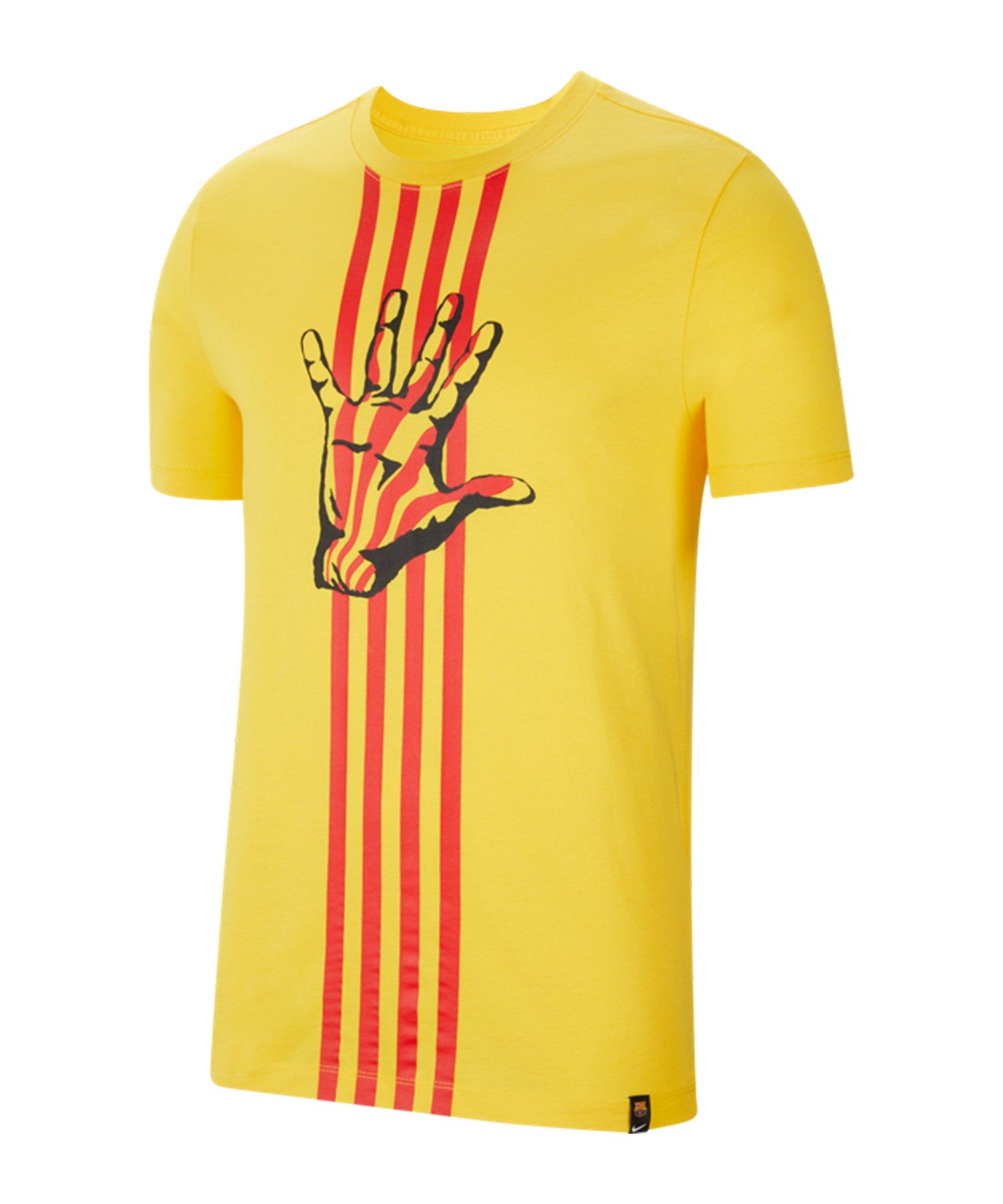 Nike FC Barcelona T-Shirt Gelb F726 - gelb