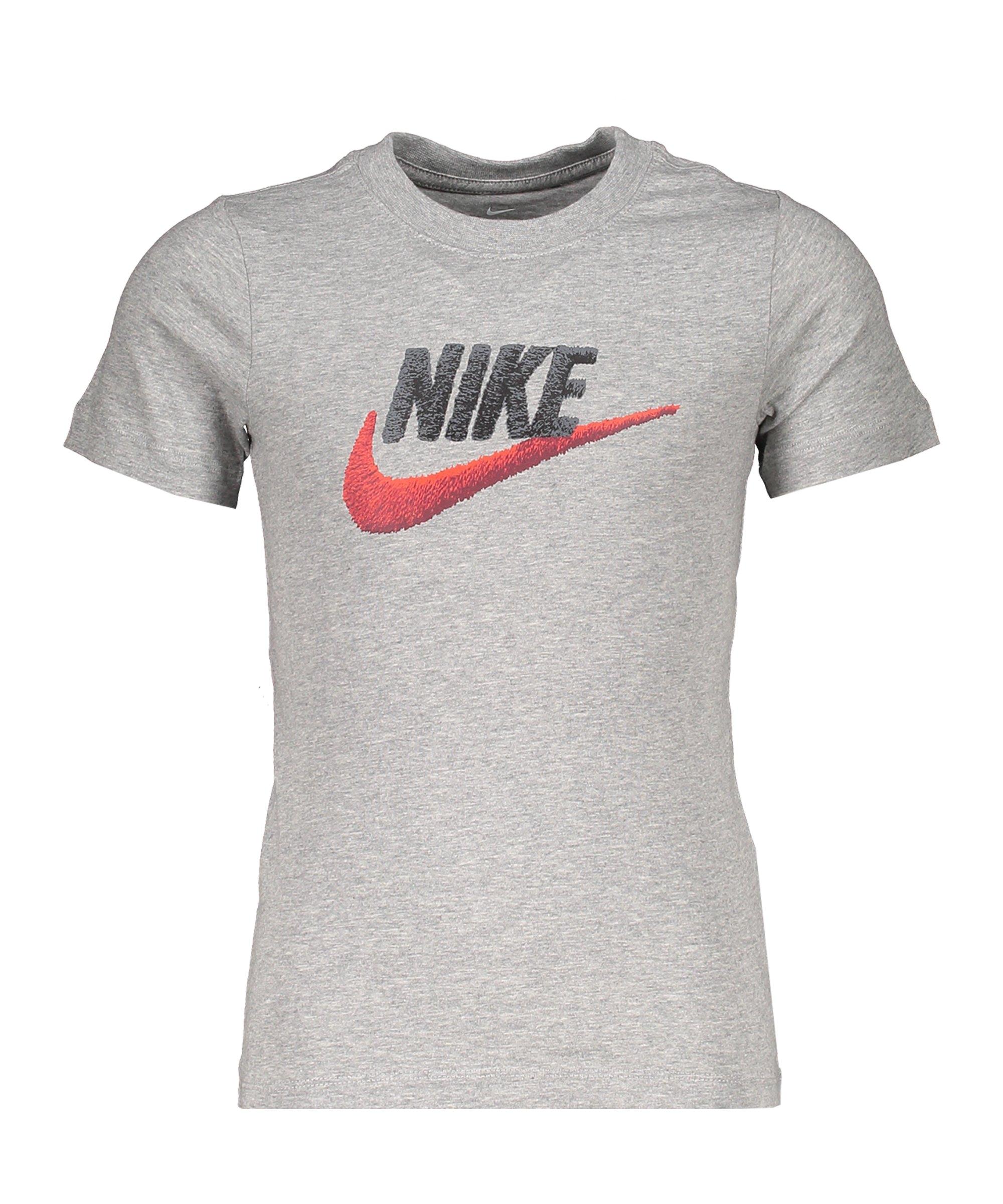 Nike Faux Embroidery Tee T-Shirt Kids Grau F063 - grau