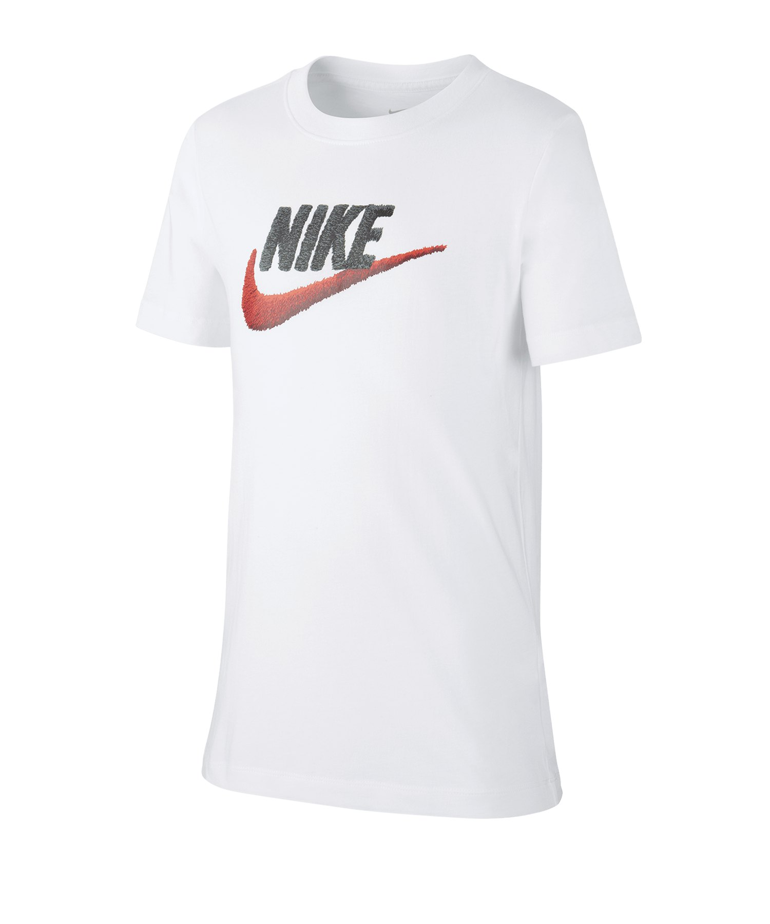 Nike Faux Embroidery Tee T-Shirt Kids Weiss F100 - weiss