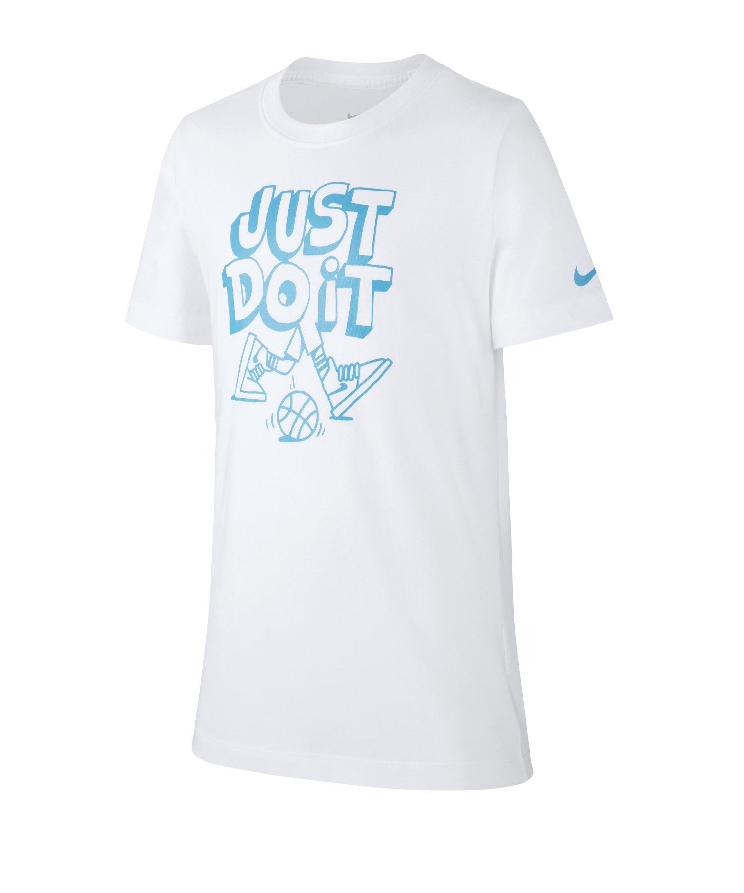 Nike JDI Cartoon Tee T-Shirt Kids Weiss F100 - weiss