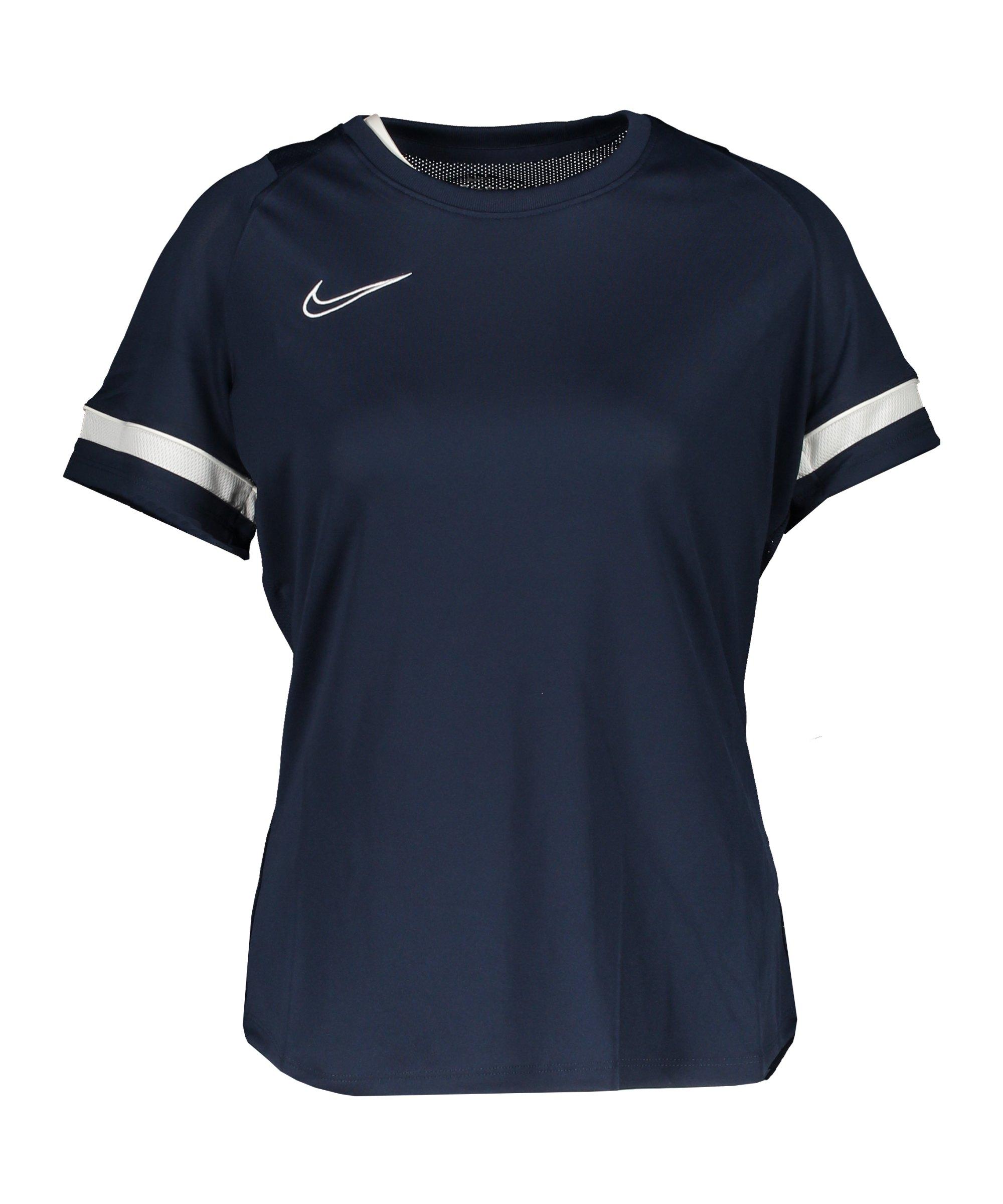 Nike Academy 21 T-Shirt Damen Blau F451 - blau