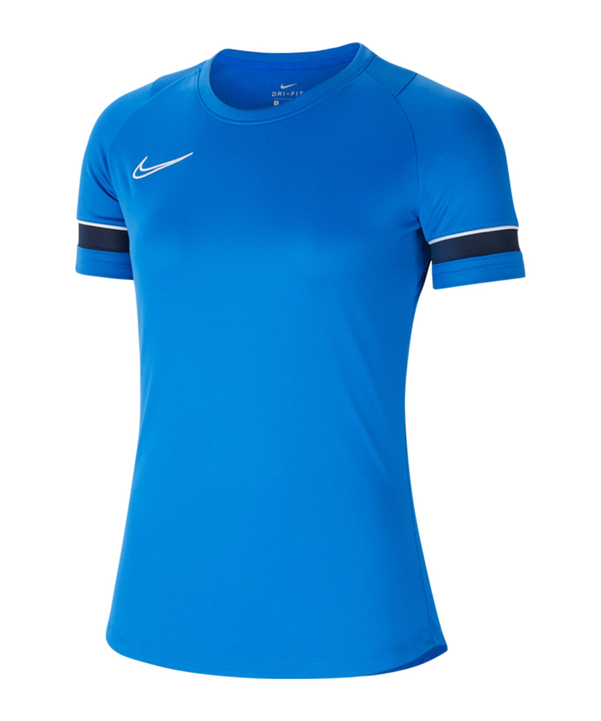 Nike Academy 21 T-Shirt Damen Blau F463 - blau