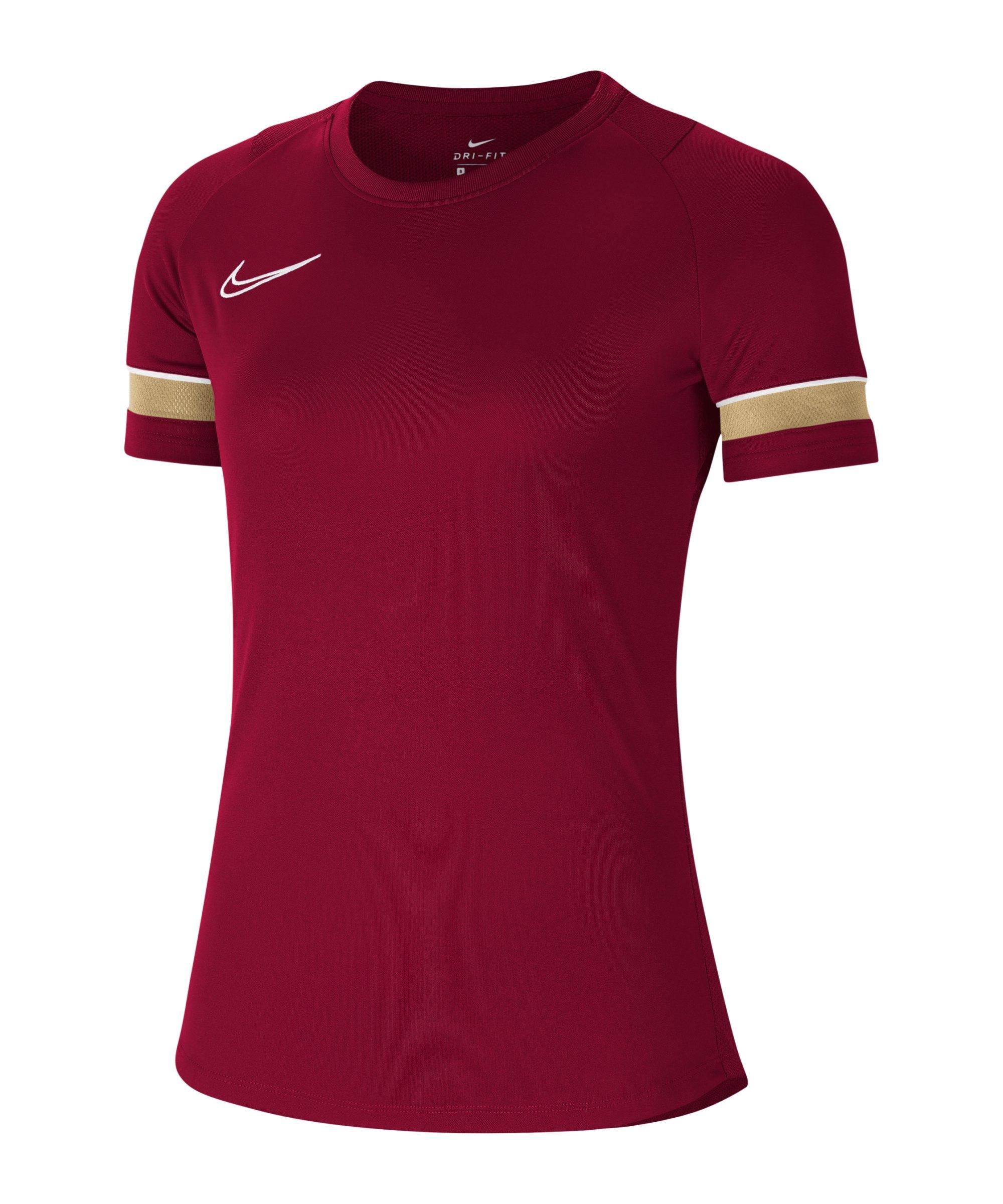 Nike Academy 21 T-Shirt Damen Rot Weiss F677 - rot