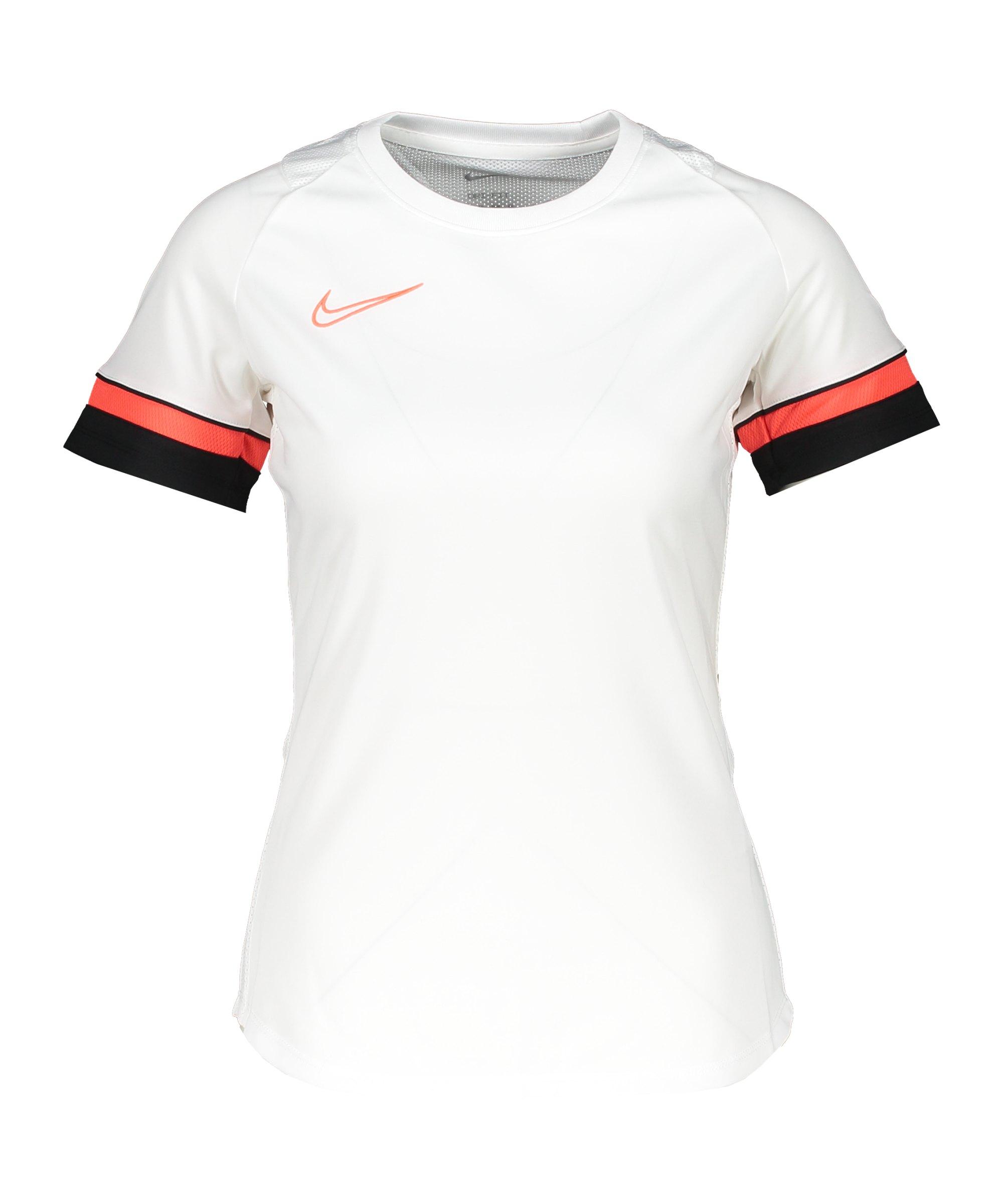 Nike Academy 21 T-Shirt Damen Weiss F101 - weiss