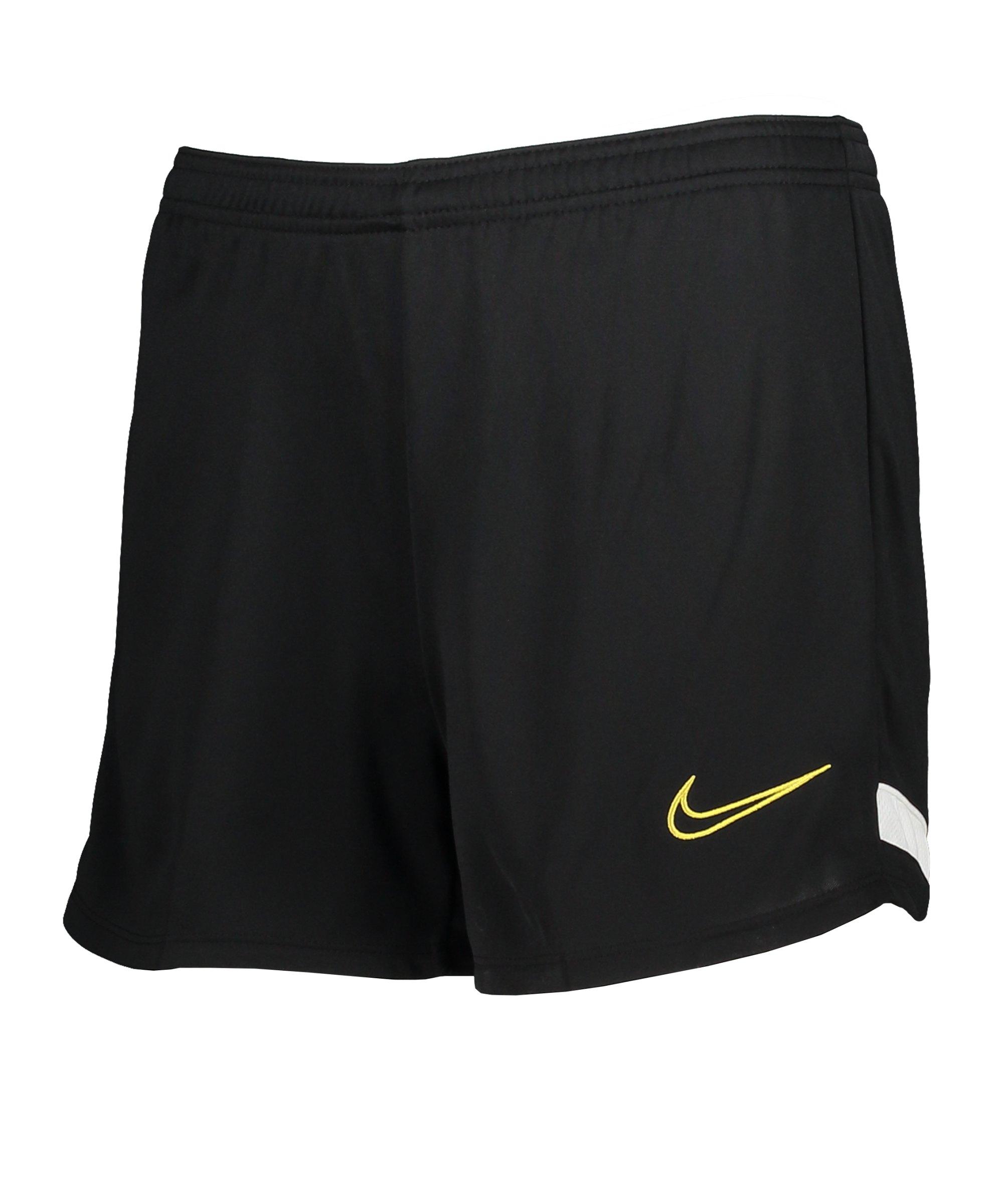 Nike Academy 21 Short Damen Schwarz Gold F013 - schwarz