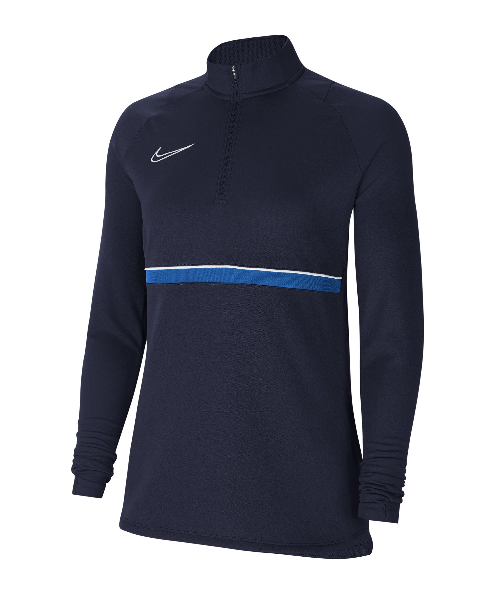 Nike Academy 21 Drill Top Damen Blau Weiss F453 - blau