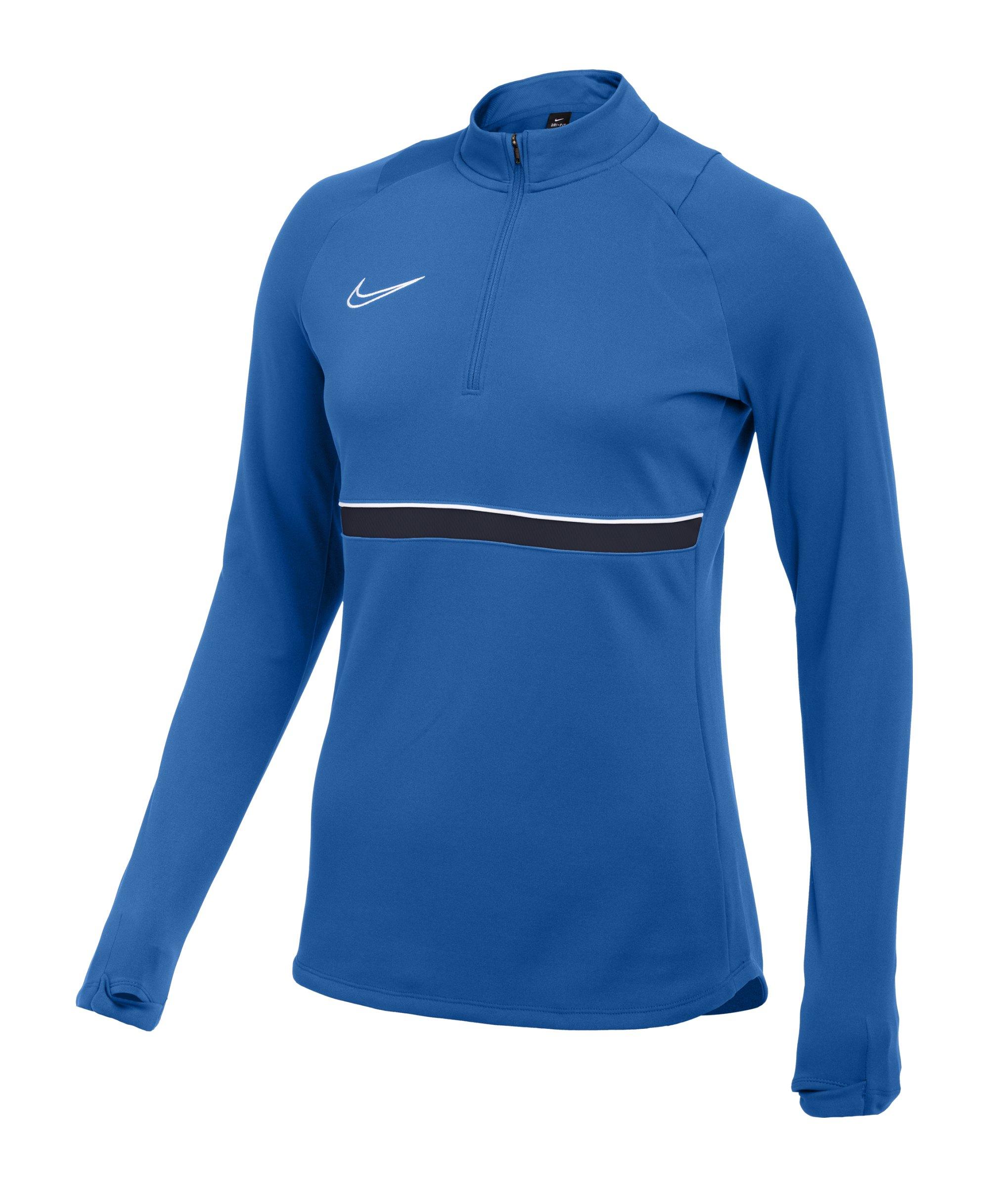 Nike Academy 21 Drill Top Damen Blau Weiss F463 - blau