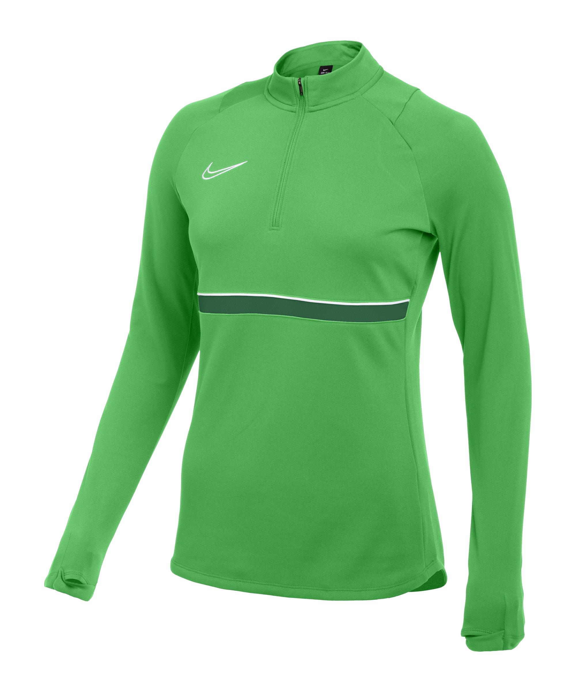 Nike Academy 21 Drill Top Damen Grün Weiss F362 - gruen