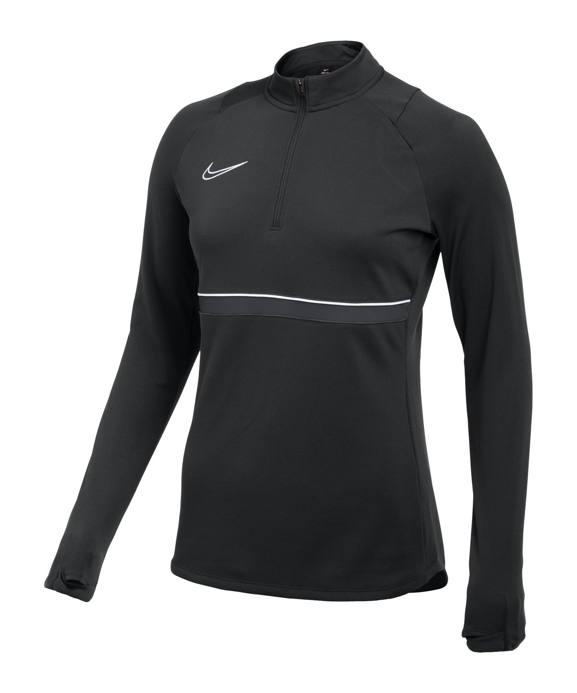 Nike Academy 21 Drill Top Damen Schwarz Weiss F014 - schwarz