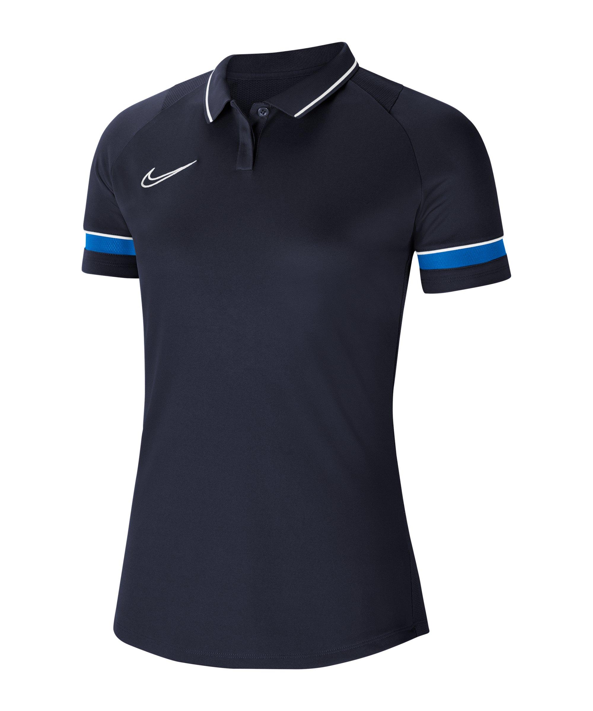 Nike Academy 21 Poloshirt Damen Blau F453 - blau