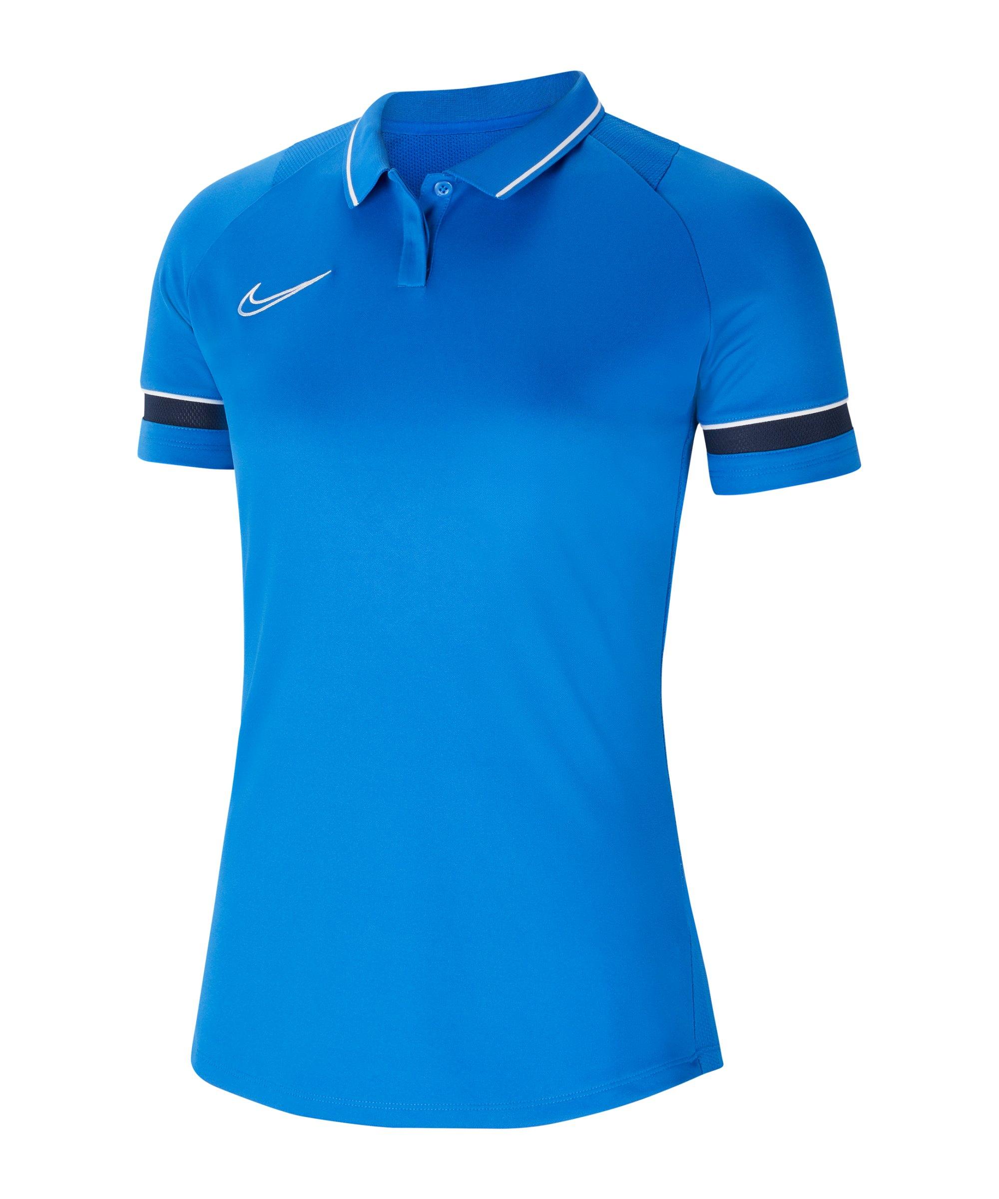 Nike Academy 21 Poloshirt Damen Blau F463 - blau