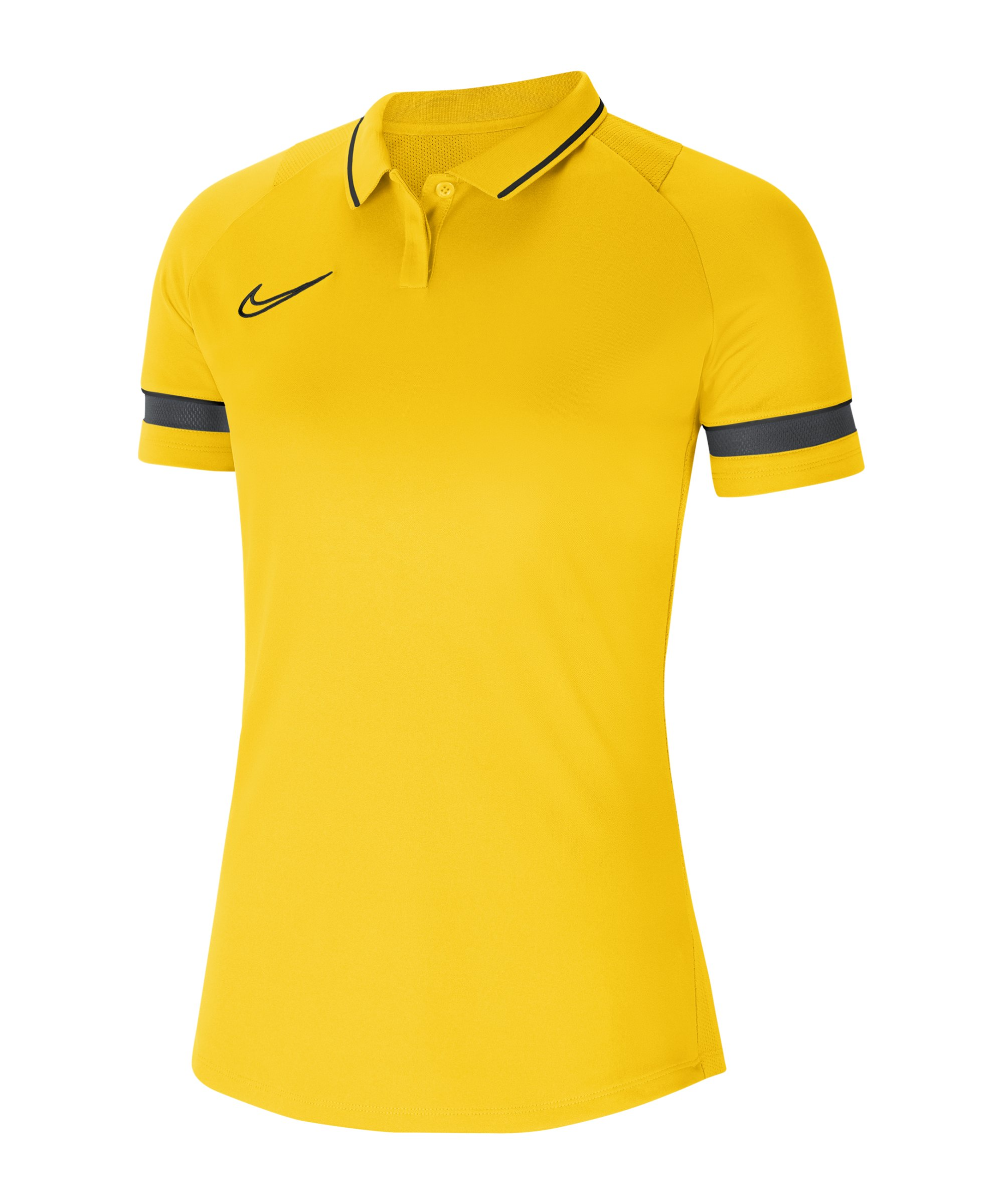 Nike Academy 21 Poloshirt Damen Gelb Schwarz F719 - gelb