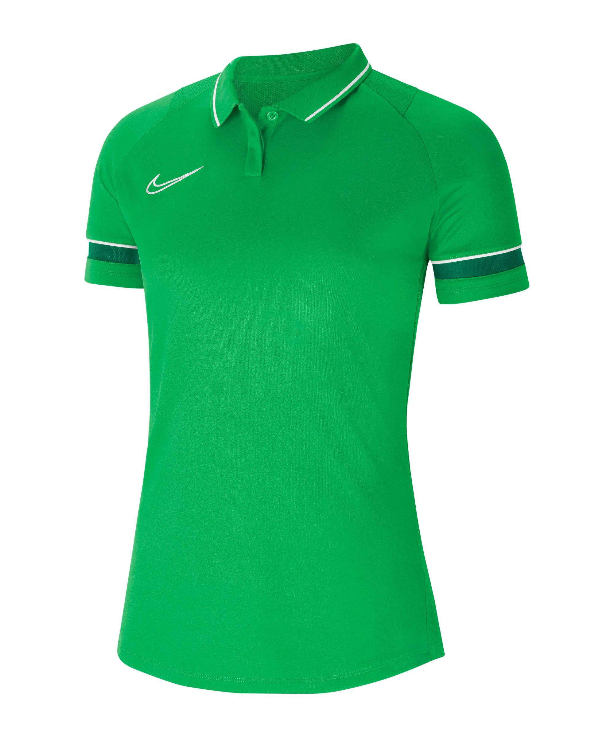 Nike Academy 21 Poloshirt Damen Grün Weiss F362 - gruen