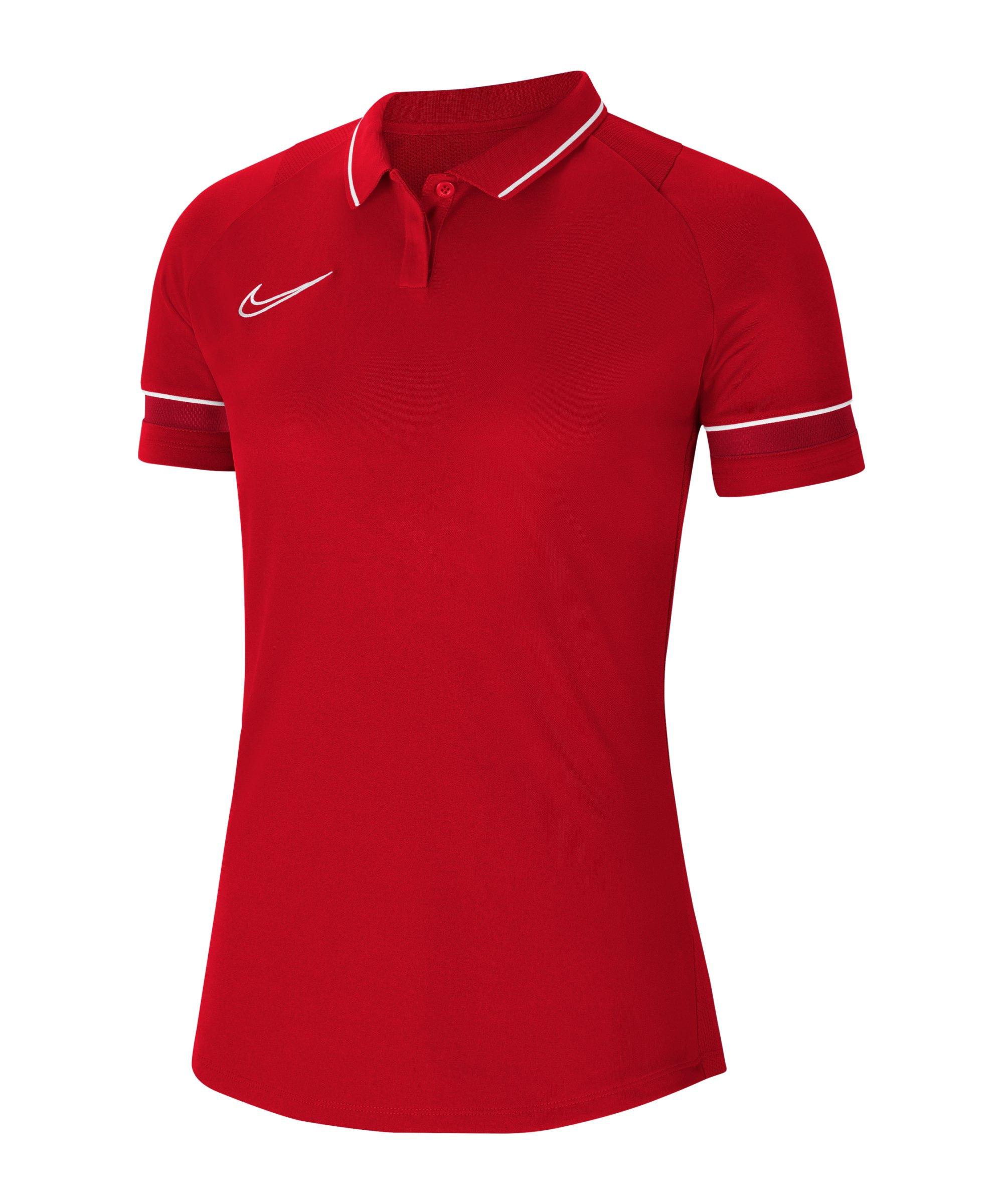 Nike Academy 21 Poloshirt Damen Rot Weiss F657 - rot