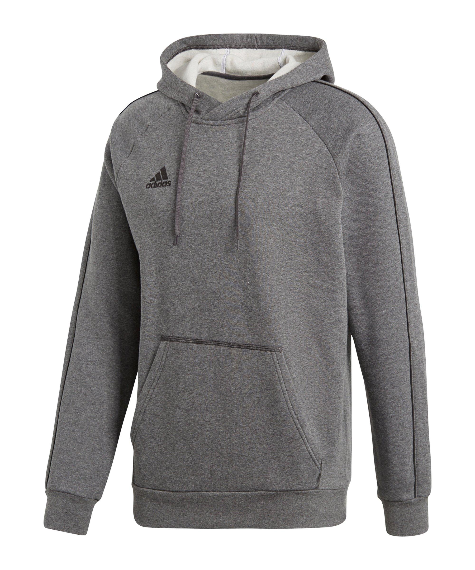 adidas Core 18 Hoody Kapuzensweatshirt Grau - grau