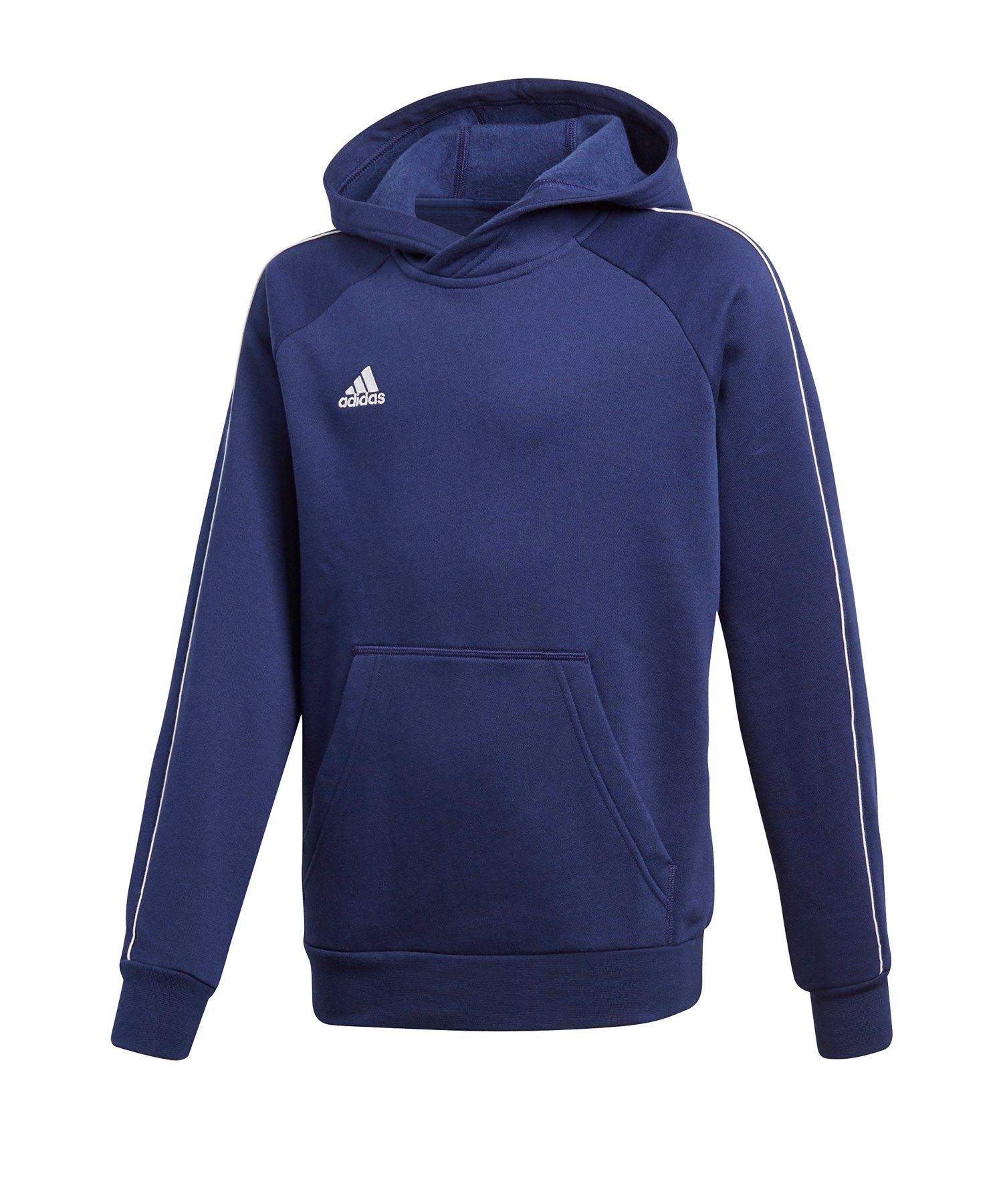 adidas Core 18 Hoody Kapuzensweatshirt Kids Blau - blau