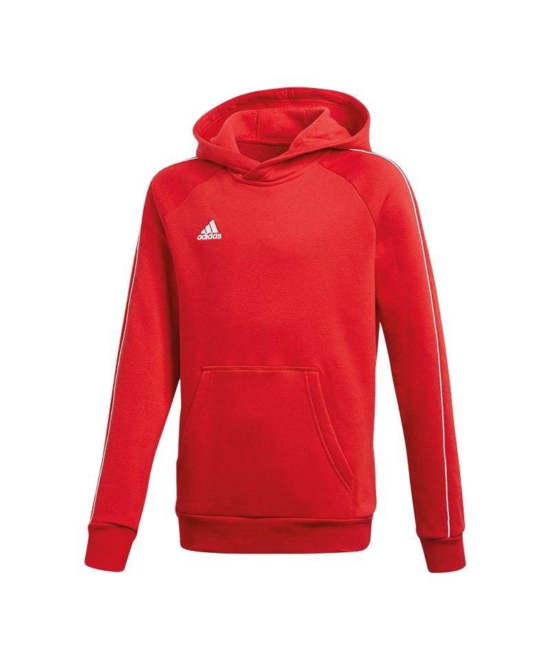 adidas Core 18 Hoody Kapuzensweatshirt Kids Rot - rot