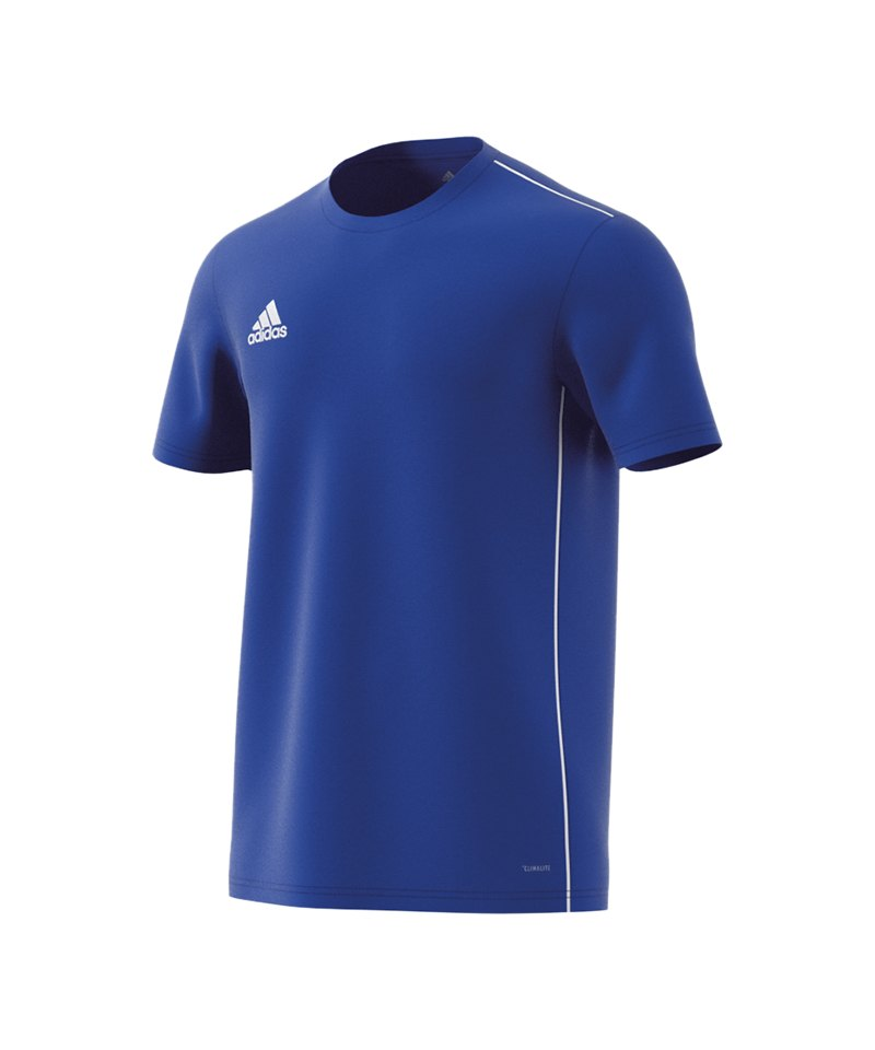 adidas Core 18 Trainingsshirt Blau Weiss - blau
