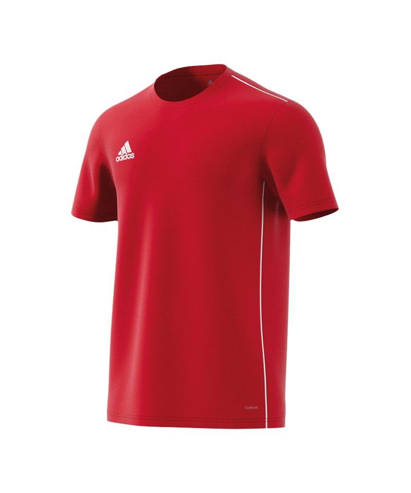 adidas Core 18 Trainingsshirt Rot Weiss - rot