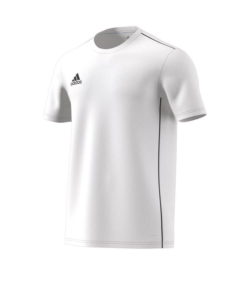 adidas Core 18 Trainingsshirt Weiss Schwarz - weiss