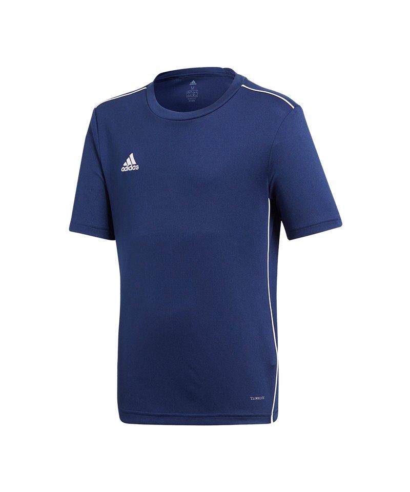 adidas Core 18 Trainingsshirt Kids Dunkelblau - blau