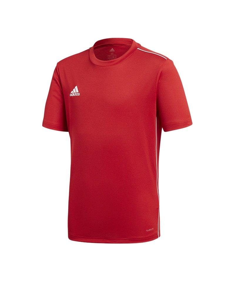 adidas Core 18 Trainingsshirt Kids Rot Weiss - rot