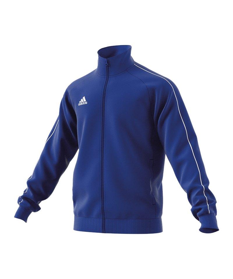 adidas Core 18 Polyesterjacke Blau Weiss - blau