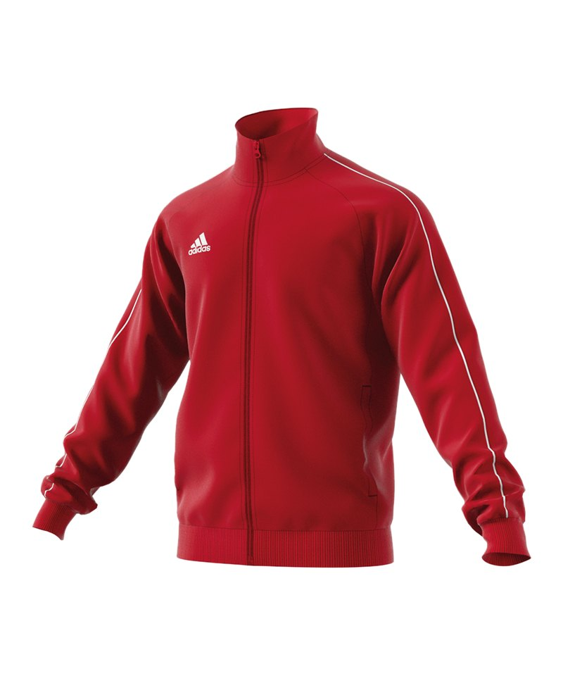 adidas Core 18 Polyesterjacke Rot Weiss - rot