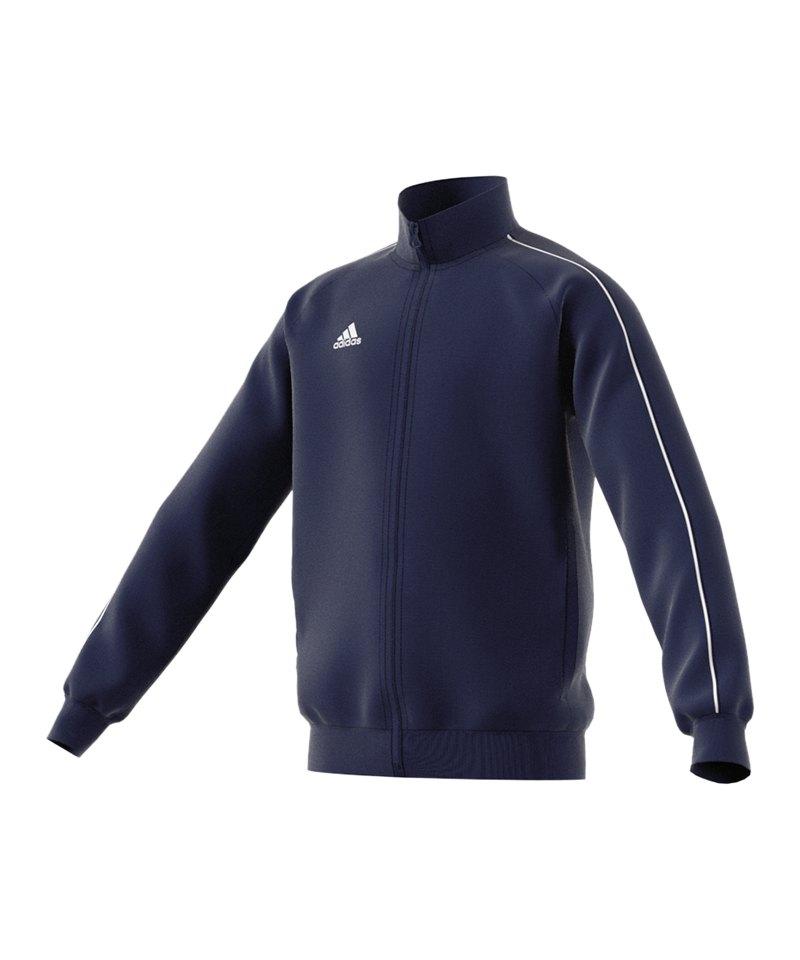 adidas Core 18 Polyesterjacke Kids Dunkelblau - blau