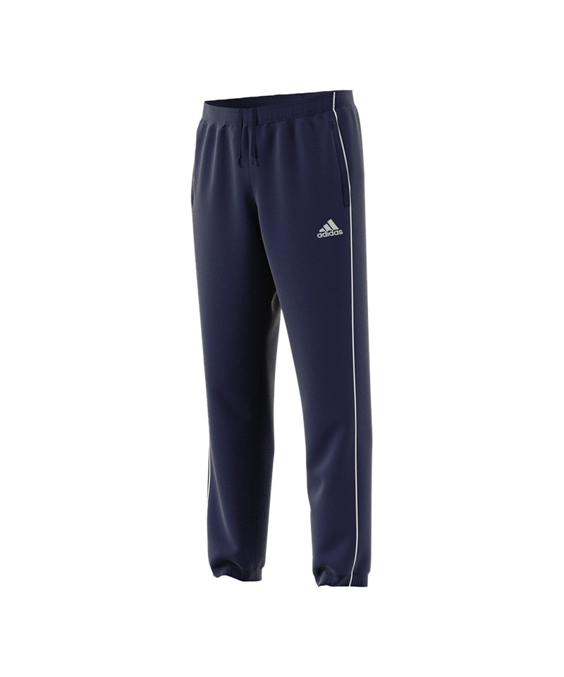 adidas Core 18 Polyesterhose Blau Weiss - blau