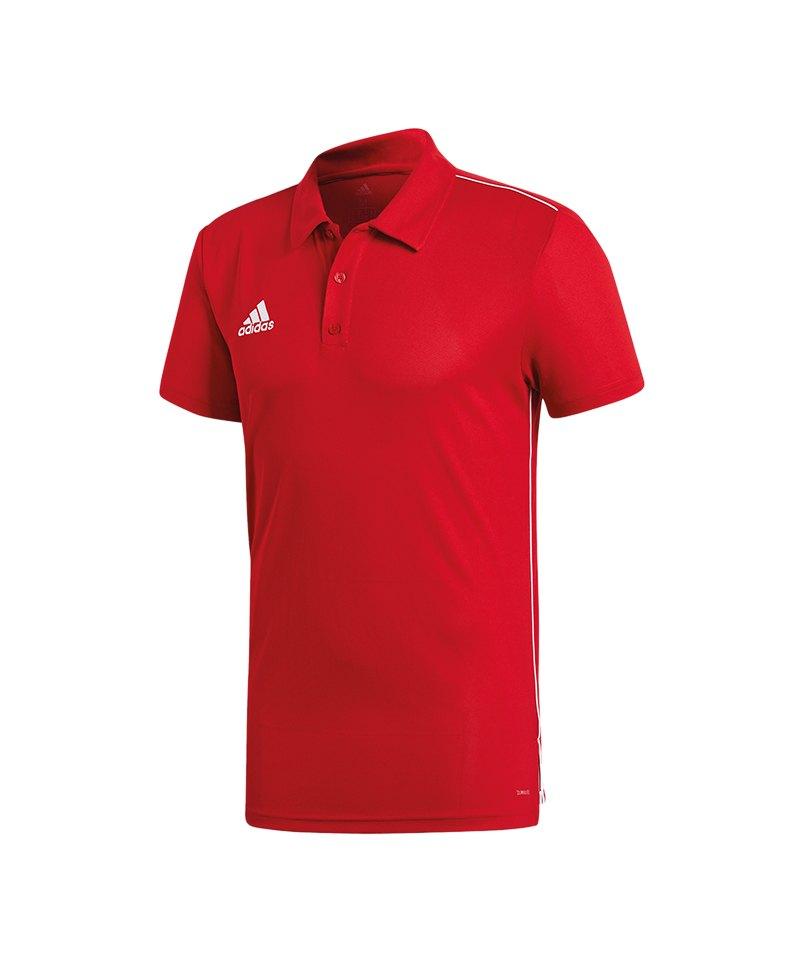 adidas Core 18 ClimaLite Poloshirt Rot Weiss - rot