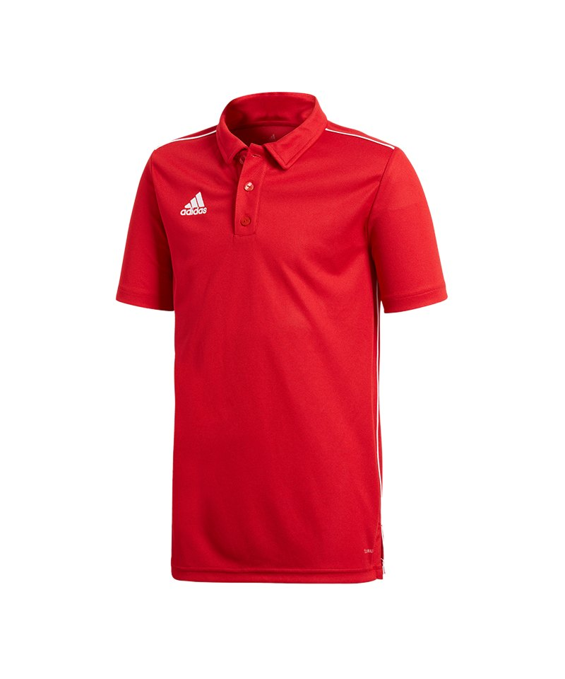 adidas Core 18 Polo kurzarm Kids Rot Weiss - rot