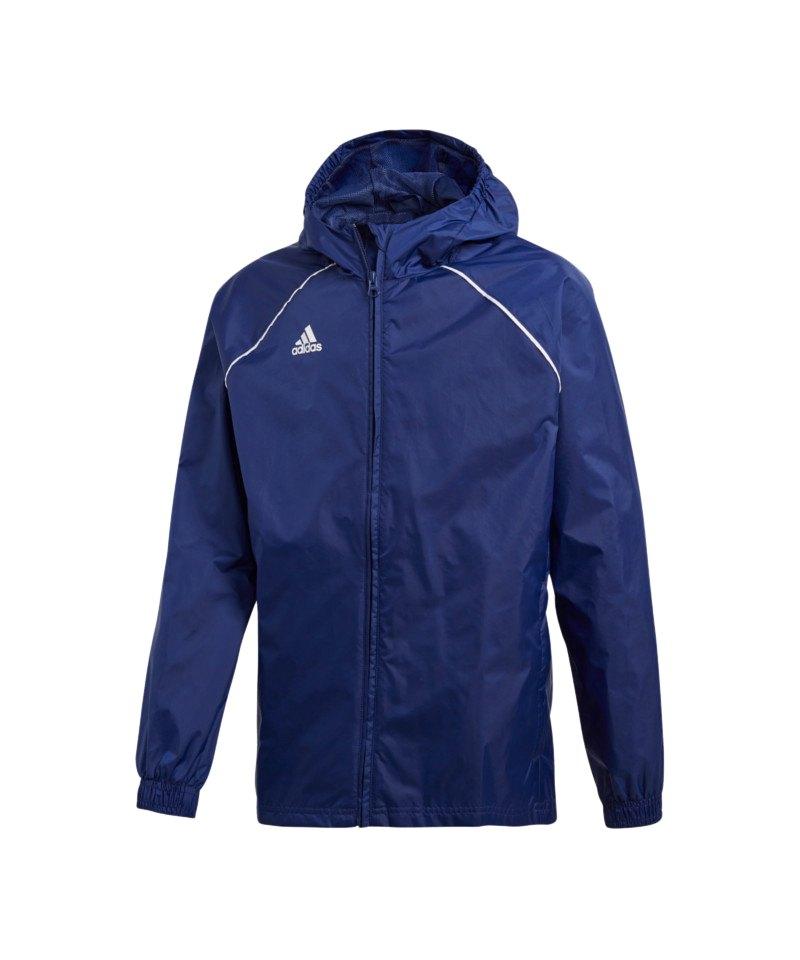 adidas Core 18 Rain Jacket Jacke Kids Dunkelblau - blau
