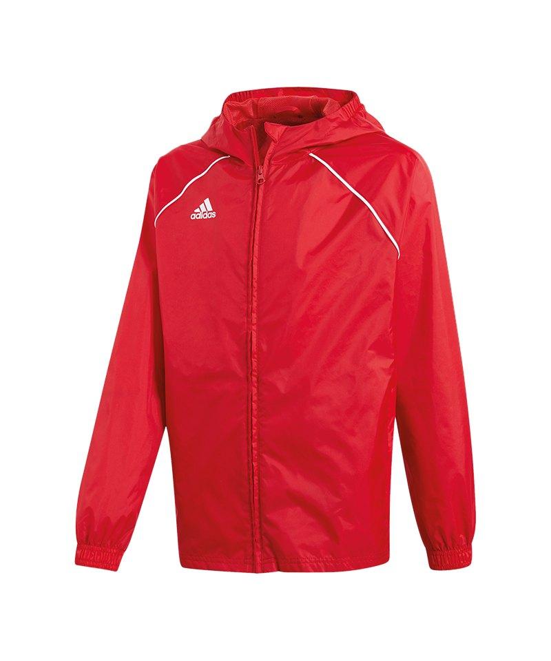 adidas Core 18 Rain Jacket Jacke Kids Rot Weiss - rot