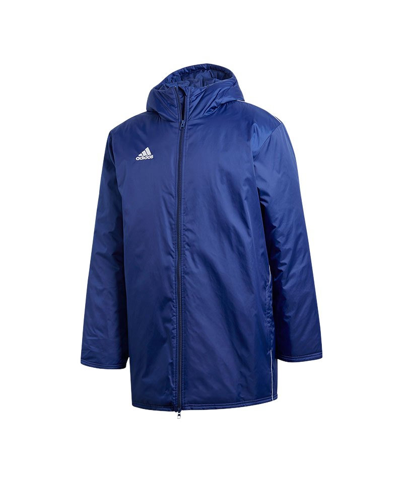 adidas Core 18 Stadium Jacket Jacke Blau Weiss - blau