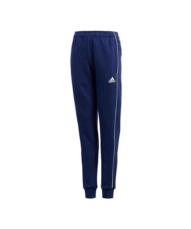 adidas Core 18 Sweat Pant Kids Blau Weiss - blau