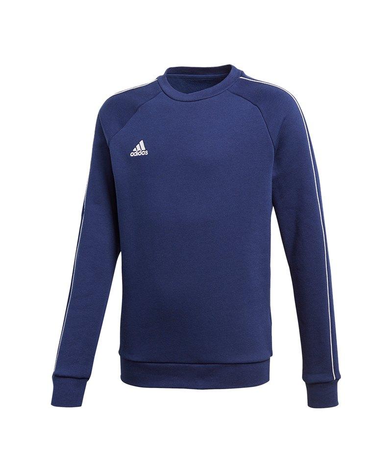 adidas Core 18 Sweat Top Kids Blau Weiss - blau