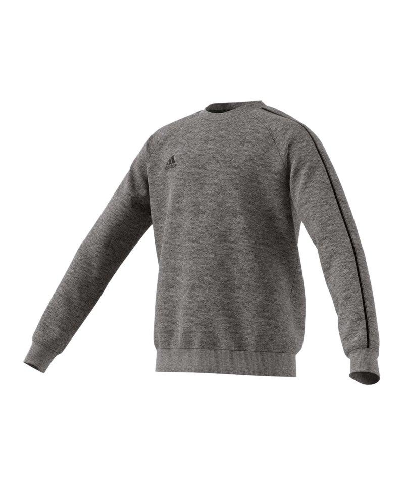 adidas Core 18 Sweat Top Kids Grau Schwarz - grau