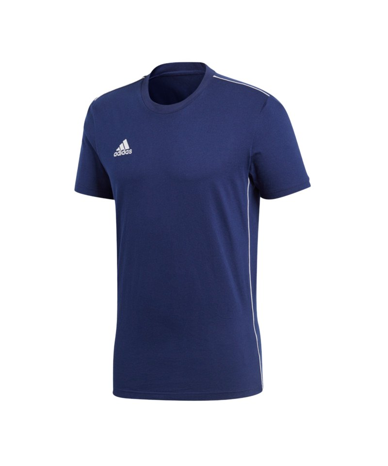 adidas Core 18 Tee T-Shirt Blau Weiss - blau