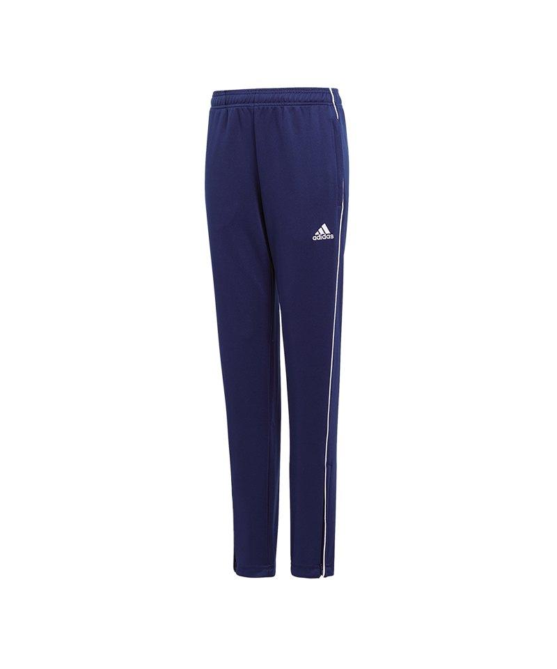 adidas Core 18 Training Pant Kids Dunkelblau Weiss - blau