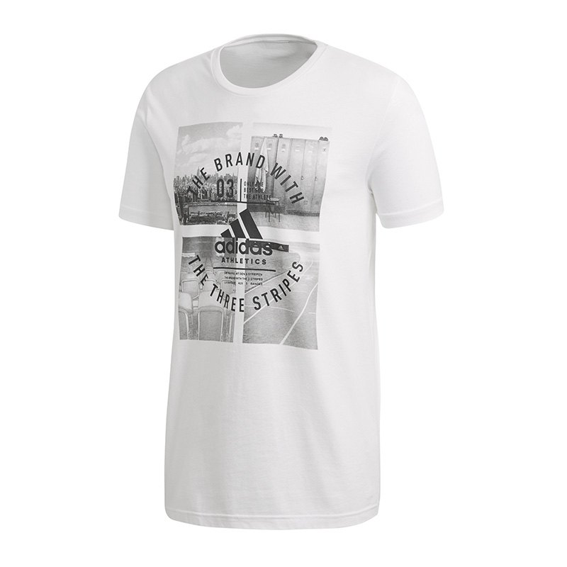 adidas Athletic Vibe Tee T-Shirt Weiss - weiss