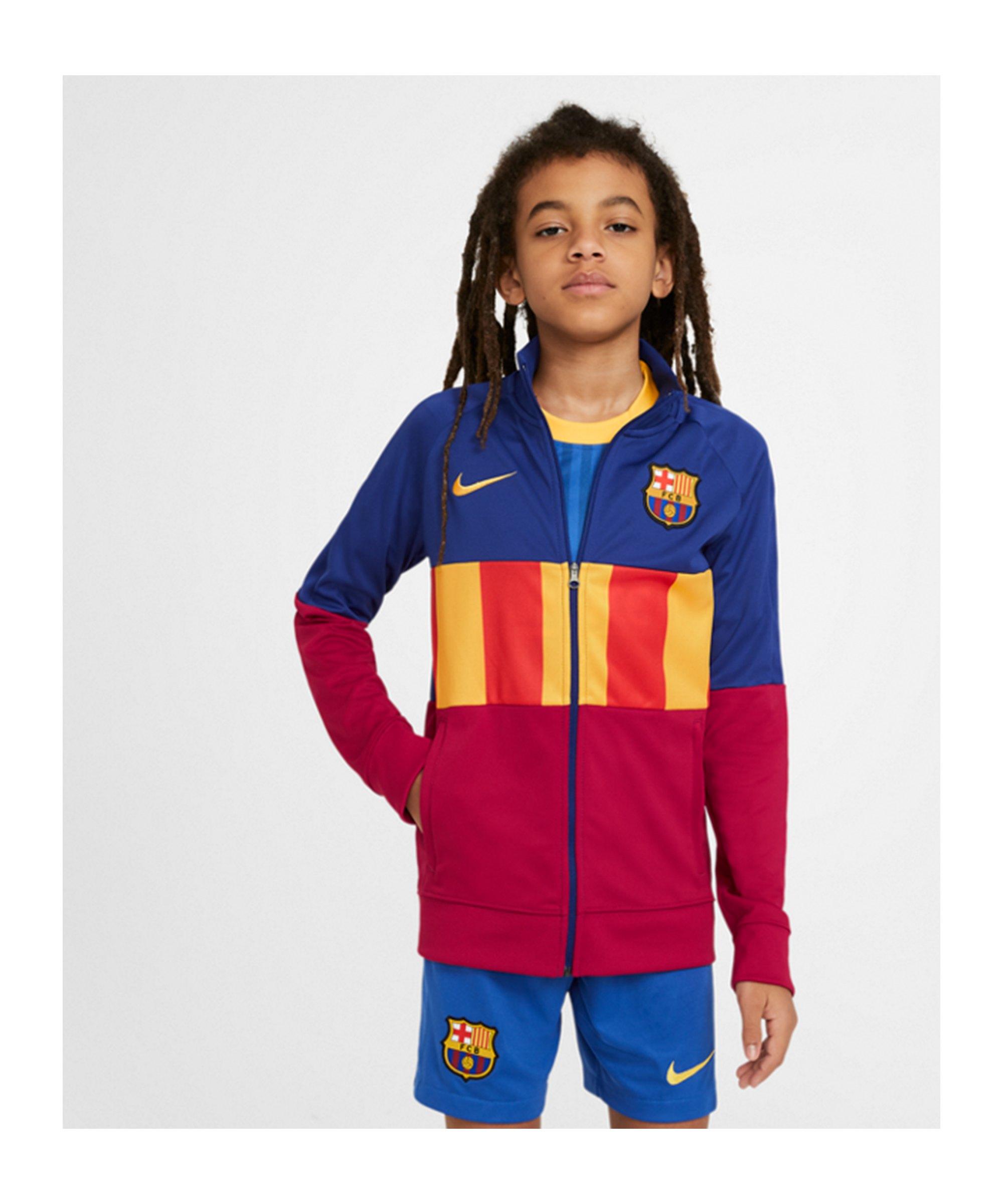 Nike FC Barcelona I96 Anthem Jacke Kids Blau F455 - blau