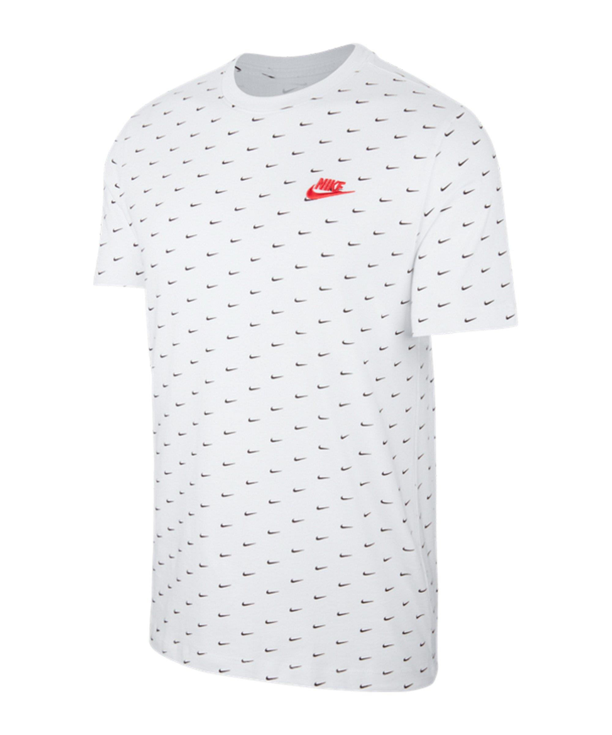 Nike Sportswear Mini Swoosh T-Shirt Weiss F102 - weiss