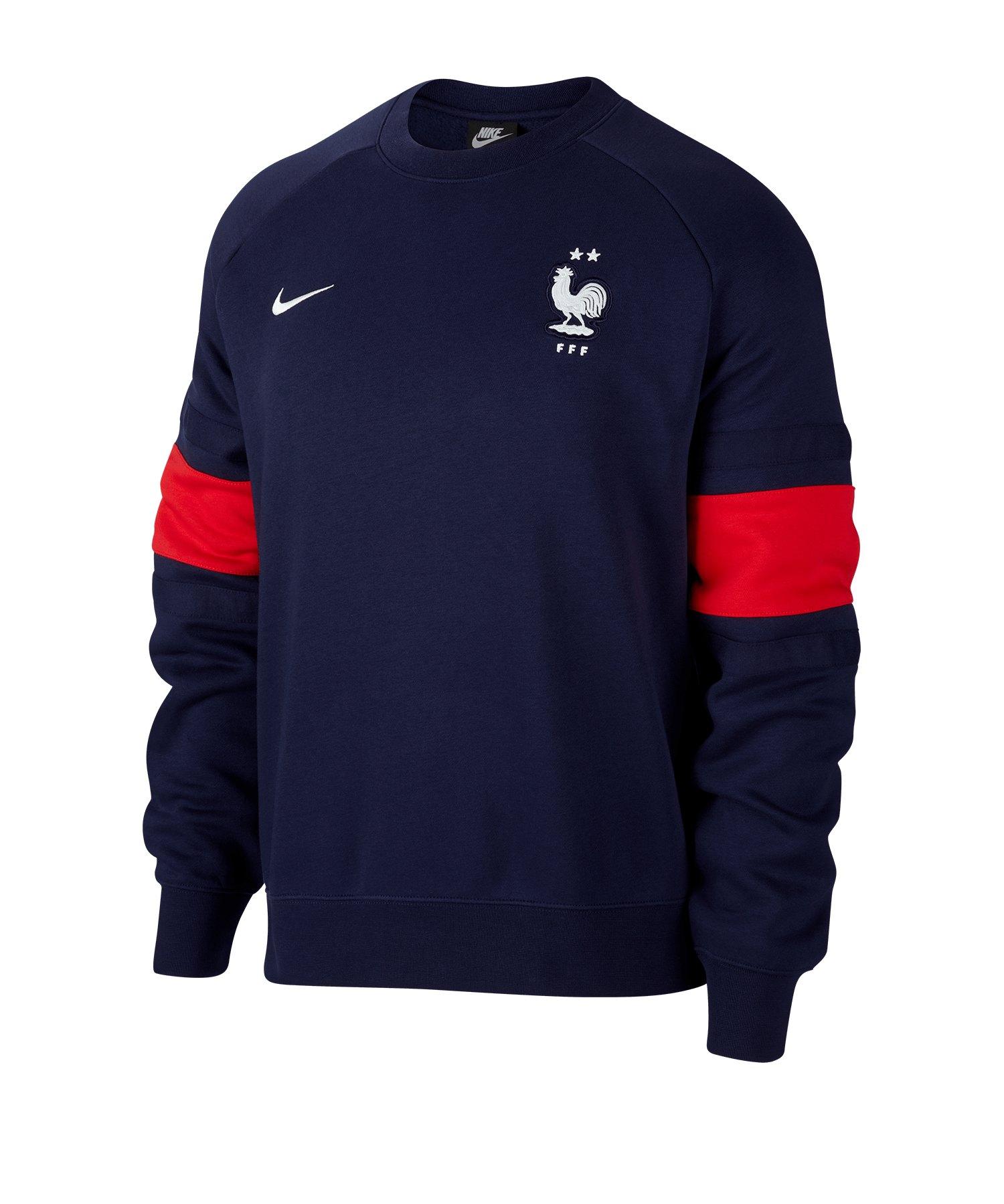 Nike Frankreich Air Crew Sweatshirt Blau F498 - blau