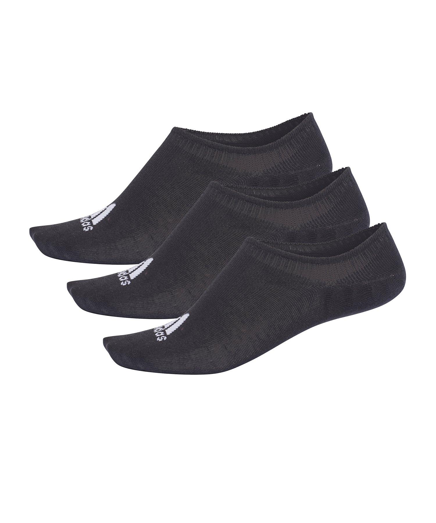 adidas Performance Invisible Socken 3 Paar Schwarz - schwarz