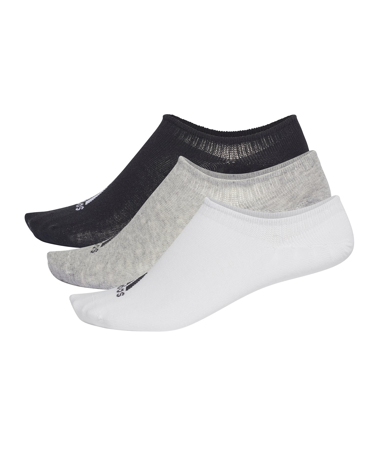 adidas Performance Invisible Socken 3 Paar Grau Weiss Schwarz - grau