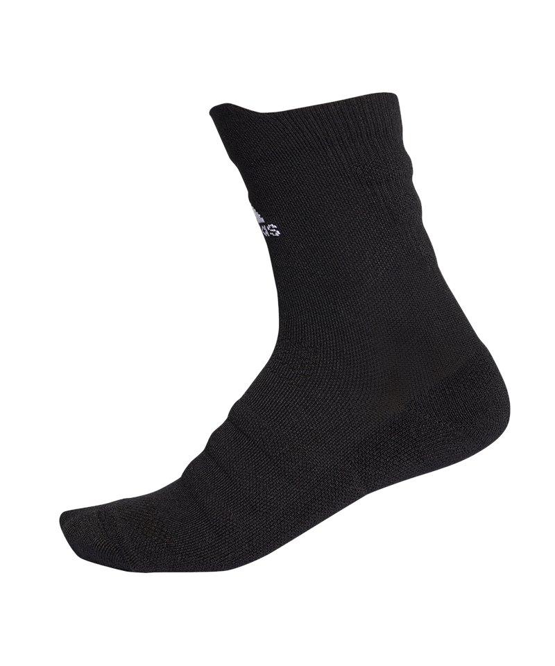 adidas Alphaskin LW Cushioning Crew Socken Schwarz - schwarz