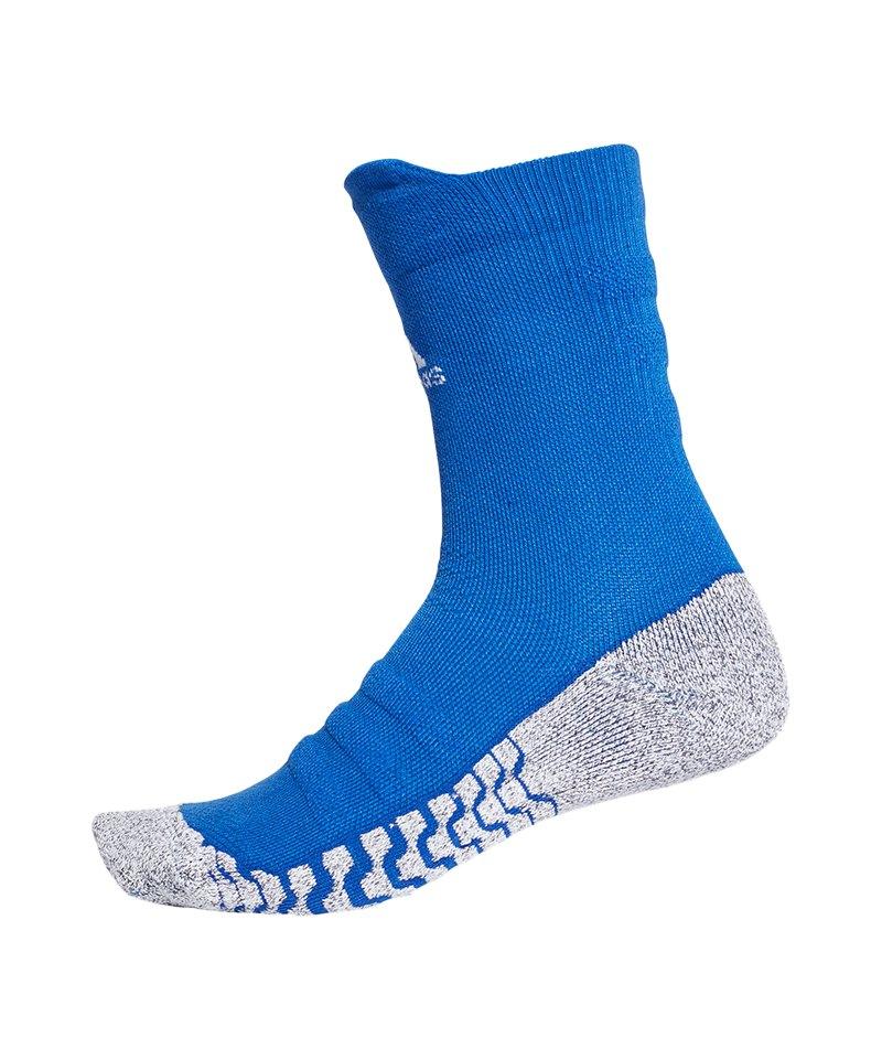 adidas Alpha Skin Traxion Cush Crew Socken Blau - blau