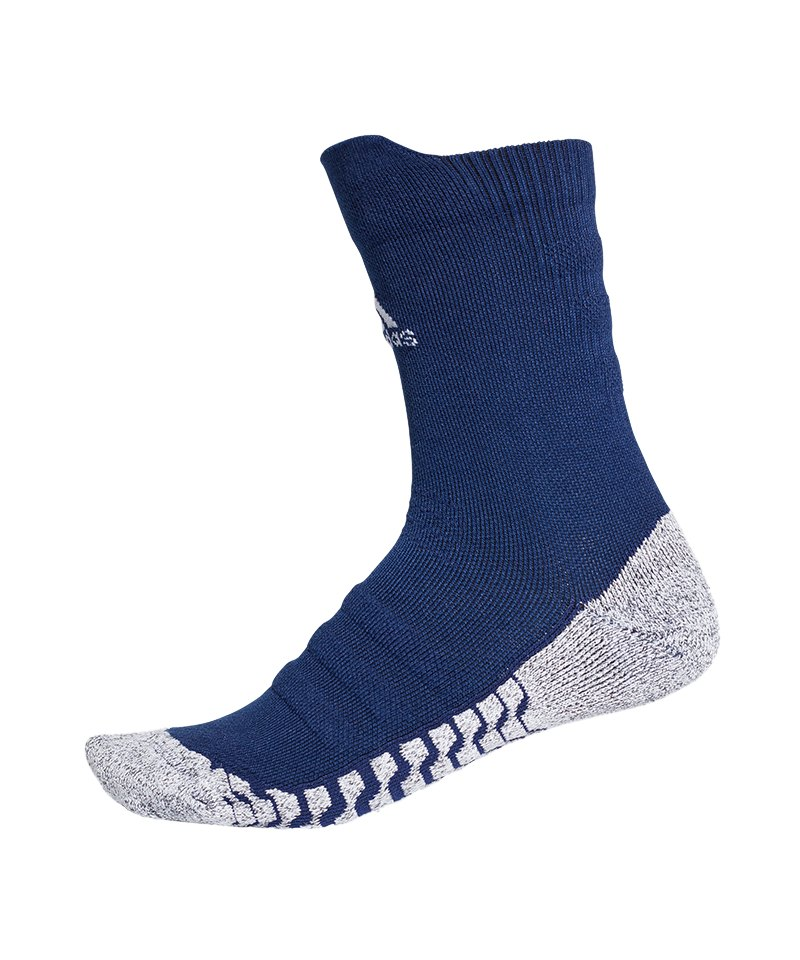 adidas Alphaskin Traxion LW Cush Crew Socken Blau - blau